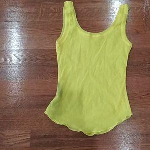 Sisley stretch yellow tank top